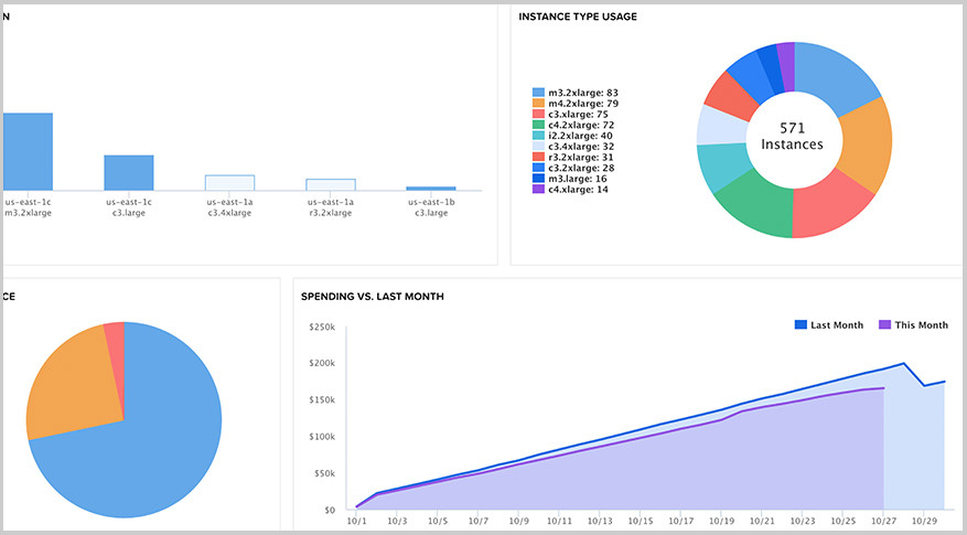 Spot usage metrics