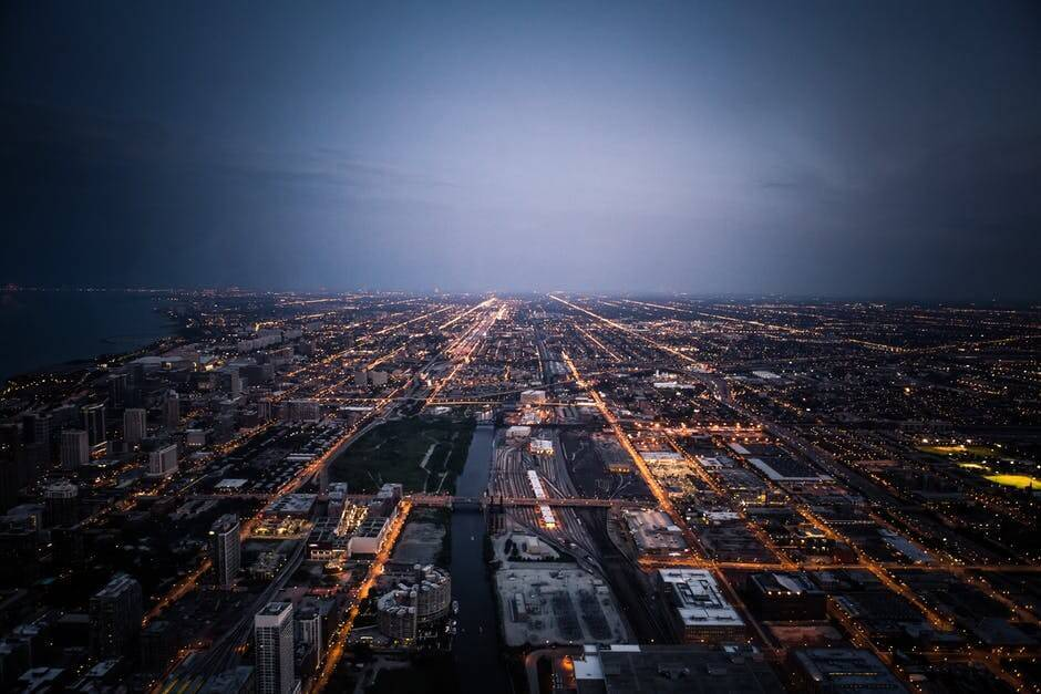 city grid image